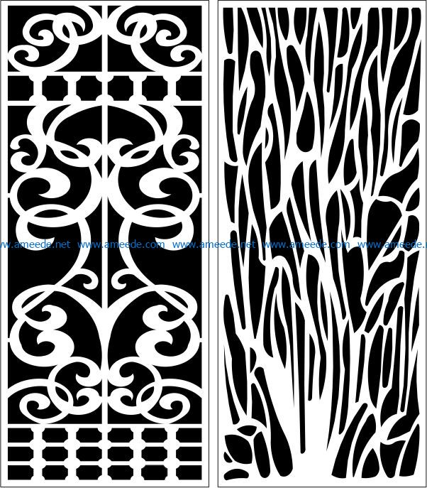 Design pattern panel screen E0007650 file cdr and dxf free vector download for Laser cut CNC