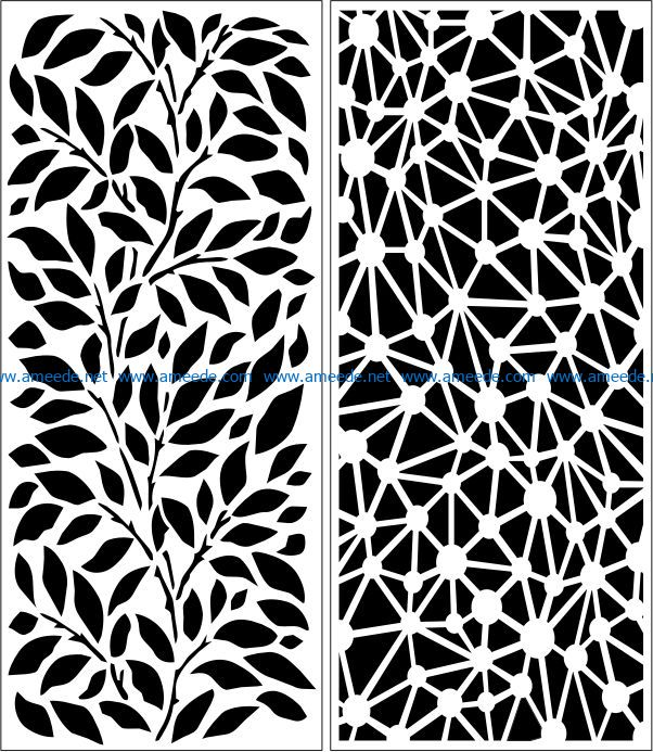 Design pattern panel screen E0007651 file cdr and dxf free vector download for Laser cut CNC