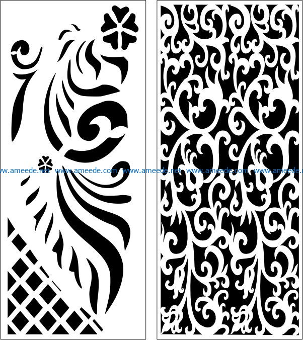Design pattern panel screen E0007652 file cdr and dxf free vector download for Laser cut CNC