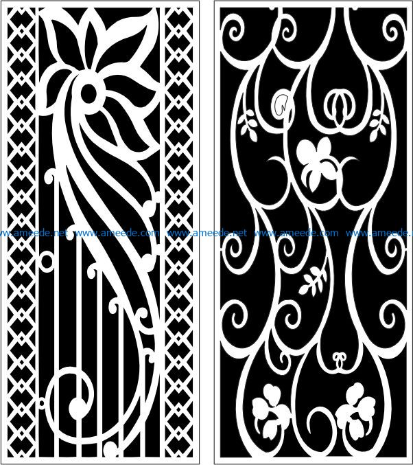 Design pattern panel screen E0007653 file cdr and dxf free vector download for Laser cut CNC