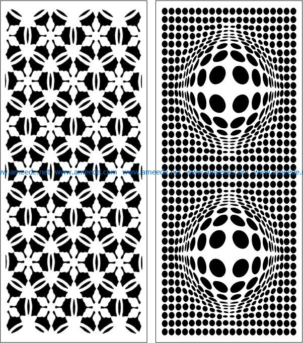 Design pattern panel screen E0007654 file cdr and dxf free vector download for Laser cut CNC
