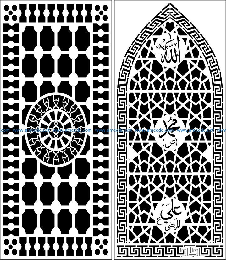 Design pattern panel screen E0007744 file cdr and dxf free vector download for Laser cut CNC