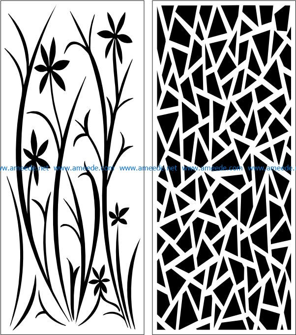 Design pattern panel screen E0007745 file cdr and dxf free vector download for Laser cut CNC