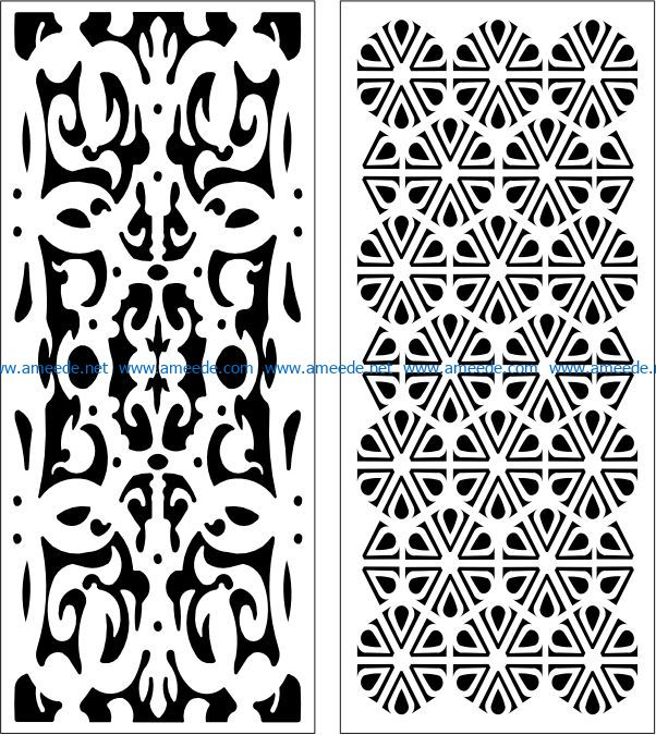 Design pattern panel screen E0007747 file cdr and dxf free vector download for Laser cut CNC