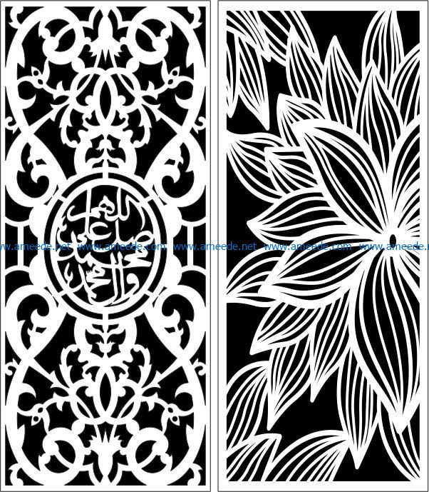 Design pattern panel screen E0007749 file cdr and dxf free vector download for Laser cut CNC