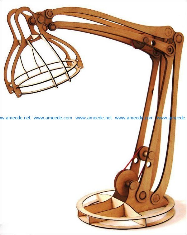 Desk lamp file cdr and dxf free vector download for Laser cut