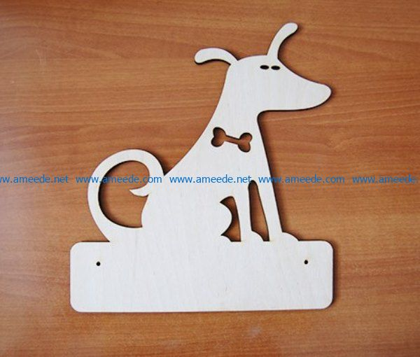 Dog key holder file cdr and dxf free vector download for Laser cut