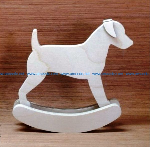 Dog rocking file cdr and dxf free vector download for Laser cut