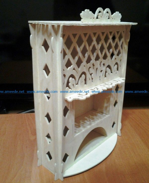 Doll fireplace file cdr and dxf free vector download for Laser cut