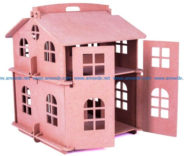Doll house file cdr and dxf free vector download for Laser cut