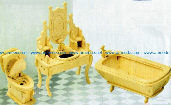 Doll's furniture file cdr and dxf free vector download for Laser cut