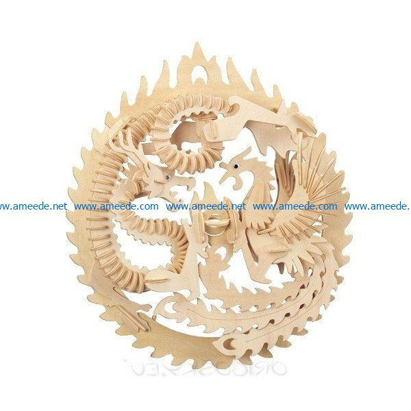 Dragon Phoenix file cdr and dxf free vector download for Laser cut