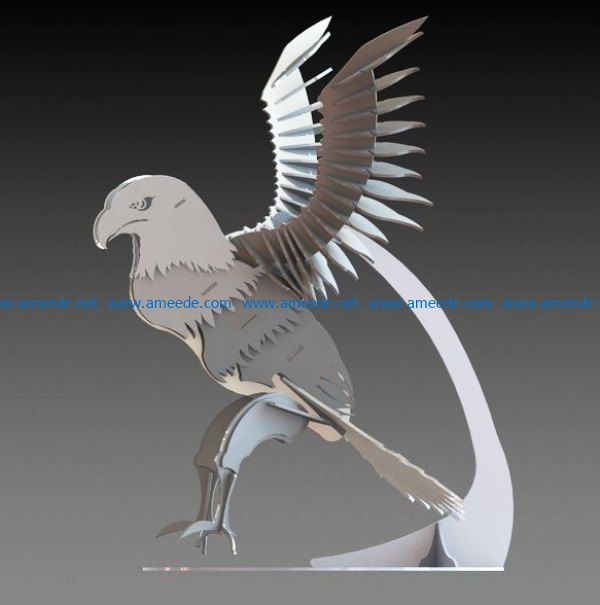 Eagle hunting file cdr and dxf free vector download for Laser cut
