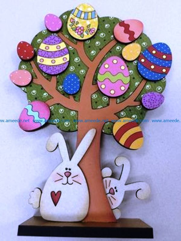 Easter tree file cdr and dxf free vector download for Laser cut