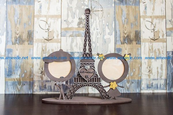 Eiffel tower file cdr and dxf free vector download for Laser cut