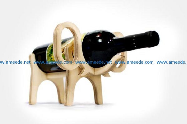 Elephant wine racks file cdr and dxf free vector download for Laser cut
