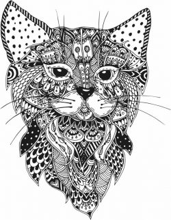 Floral cat file cdr and dxf free vector download for Laser cut Plasma file Decal