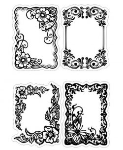 Floral frame file cdr and dxf free vector download for print or laser engraving machines