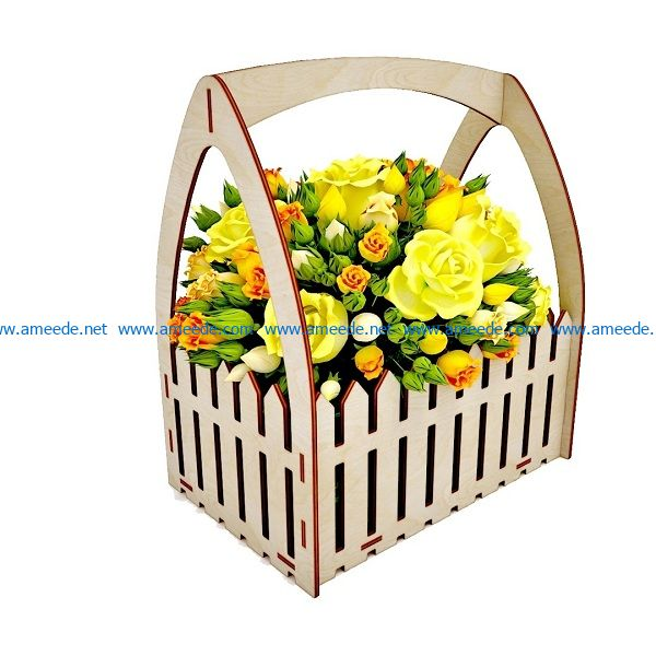 Flower fence file cdr and dxf free vector download for Laser cut