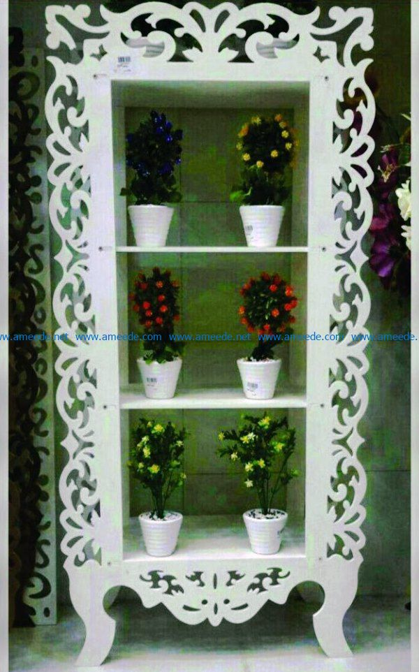 Flower pot shelf file cdr and dxf free vector download for Laser cut CNC – Download Free Vector
