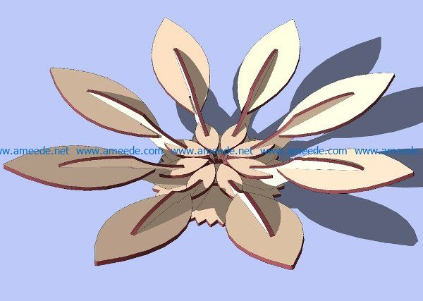 Flower shaped vase file cdr and dxf free vector download for Laser cut