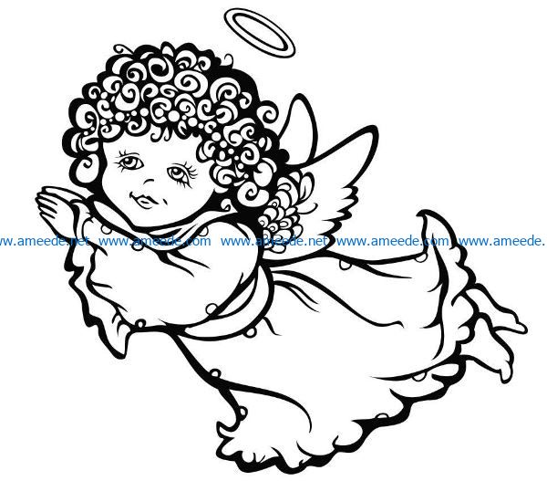 Flying Angel file cdr and dxf free vector download for laser engraving machines