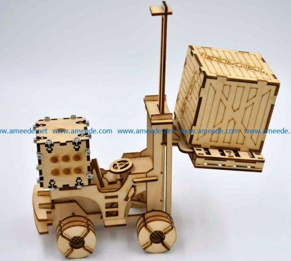Forklift truck file cdr and dxf free vector download for Laser cut