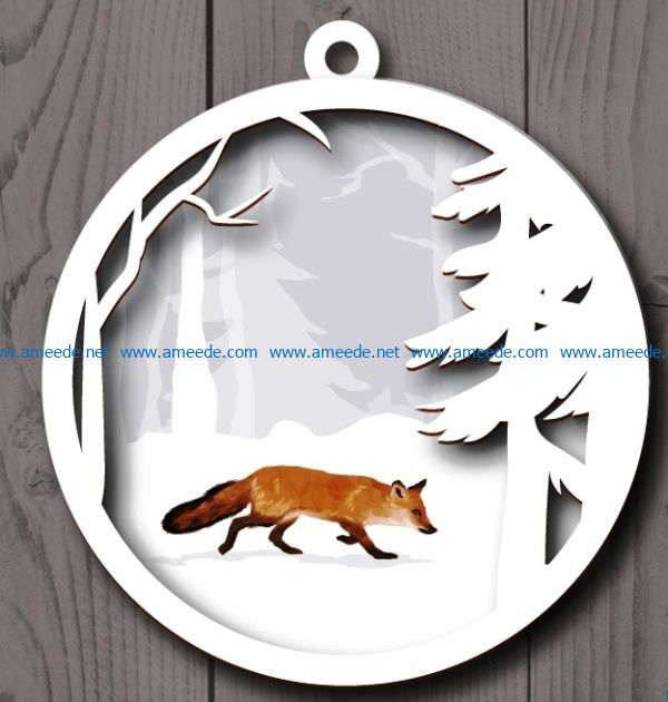 Fox ball seal cutting file cdr and dxf free vector download for Laser cut