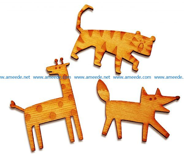 Funny animal file cdr and dxf free vector download for Laser cut
