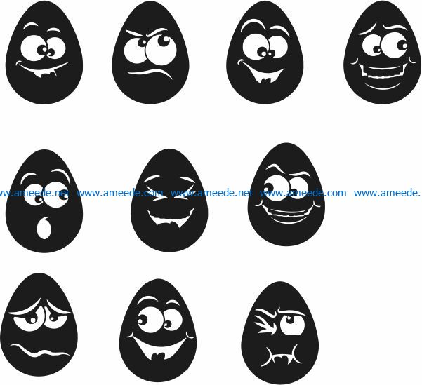 Funny egg file cdr and dxf free vector download for laser engraving machines