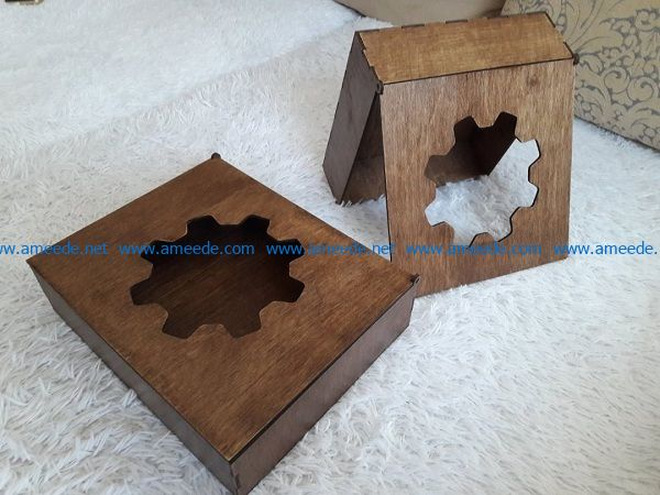 Gear shaped box file cdr and dxf free vector download for Laser cut