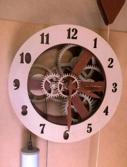 Gear wall clock file cdr and dxf free vector download for Laser cut