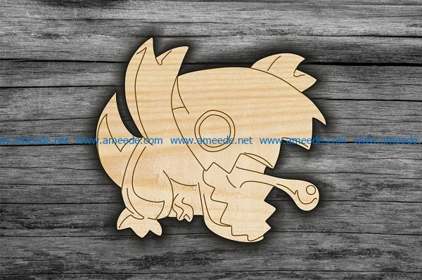 Gecko file cdr and dxf free vector download for Laser cut