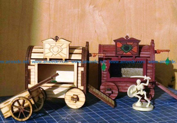 Gipsy Wagon file cdr and dxf free vector download for Laser cut