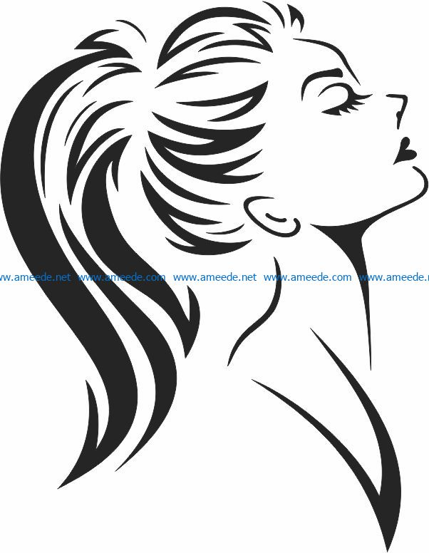 Girl wall paintings file cdr and dxf free vector download for print or laser engraving machines