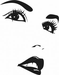 Girl's face file cdr and dxf free vector download for print or laser engraving machines