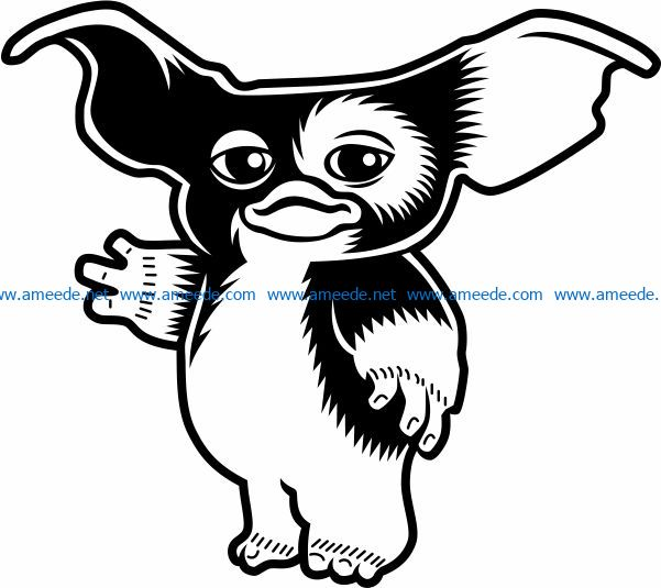 Gizmo file cdr and dxf free vector download for print or laser engraving machines
