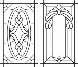 Glass window pattern file cdr and dxf free vector download for laser engraving machines
