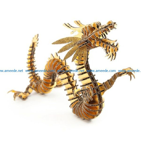 Golden Dragon file cdr and dxf free vector download for Laser cut