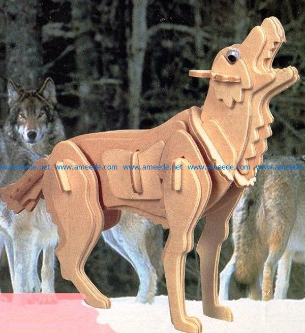 Grey wolf file cdr and dxf free vector download for Laser cut