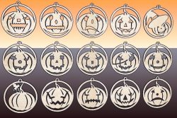 Halloween pumpkin file cdr and dxf free vector download for Laser cut