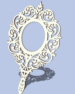 Hand mirror file cdr and dxf free vector download for Laser cut