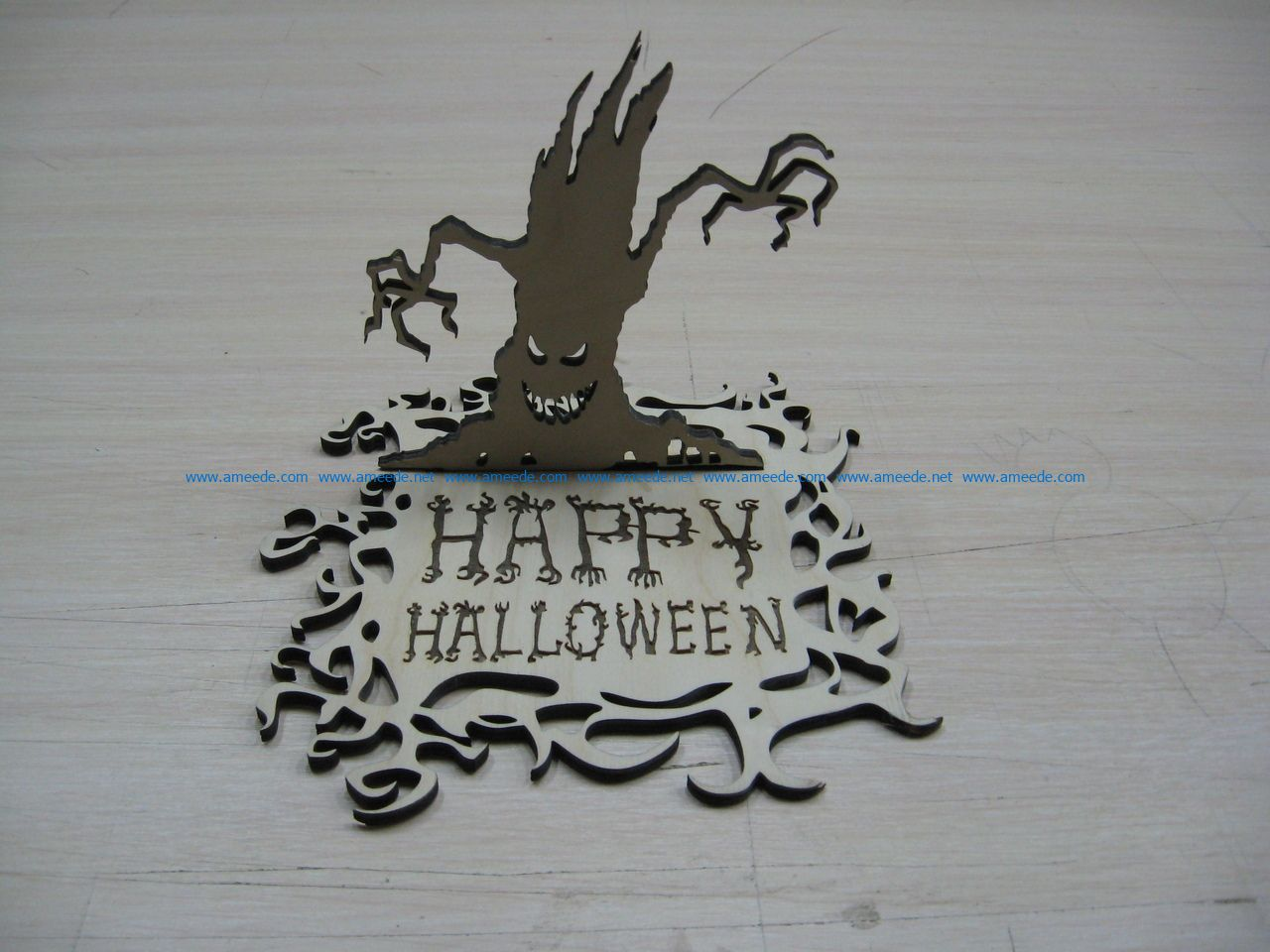 Happy Halloween file cdr and dxf free vector download for Laser cut