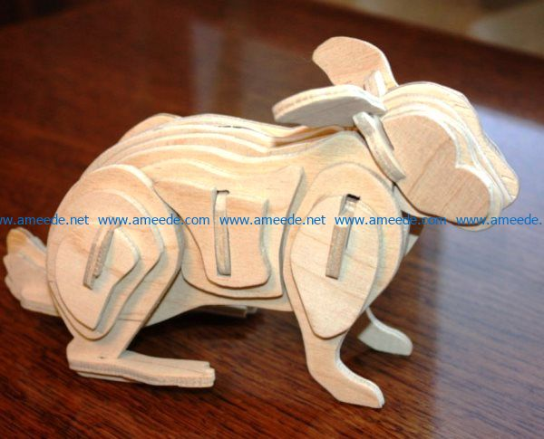 Hare file cdr and dxf free vector download for Laser cut CNC