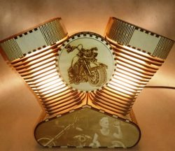 Harley lamp file cdr and dxf free vector download for Laser cut