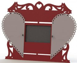 Heart photo frame file cdr and dxf free vector download for Laser cut