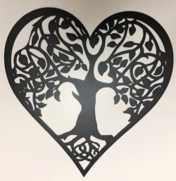 Heart tree of life file cdr and dxf free vector download for print or laser engraving machines