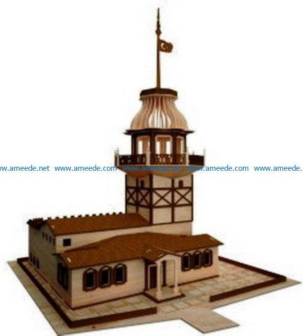 Historical Town file cdr and dxf free vector download for Laser cut