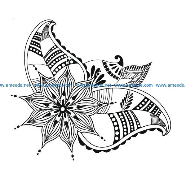 Hope flowers file cdr and dxf free vector download for print or laser engraving machines