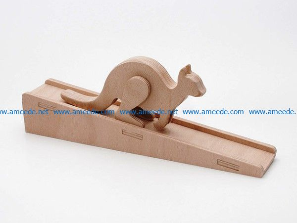 Hopped animal kangaroo file cdr and dxf free vector download for CNC cut